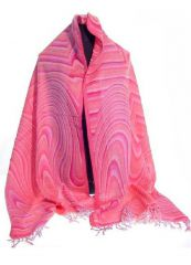 PAS-47   1 Stück Pashmina Schal mit Paisley Muster * 100 % Wolle